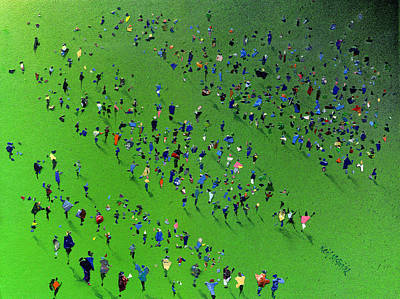 Spectators Painting - Sports Day by Neil McBride