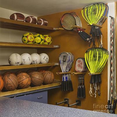 Sports Equipment Display Art Print by Andersen Ross