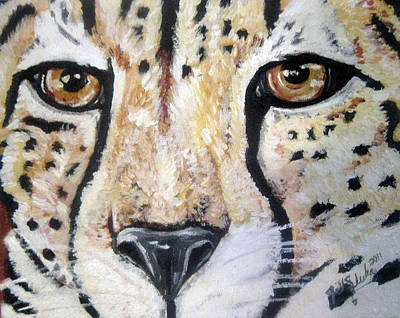 Painting - Spotted Eyes by Jill Sluka