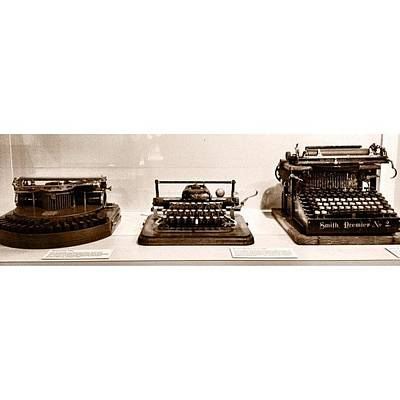 Typewriter Photograph - Spotted These At Our State #museum by Elza Hayen