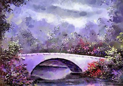 Profit Mixed Media - Spring - Bridge by Ellens Art