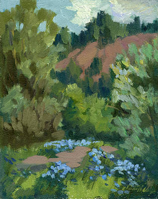 Painting - Spring And Canterbury Bells by Diane McClary