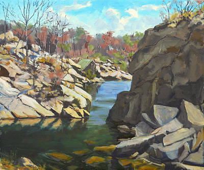 Rockport Massachusetts Painting - Spring At The Back Resevoir by Chris Coyne