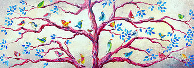 Painting - Spring Birds by Deb Broughton
