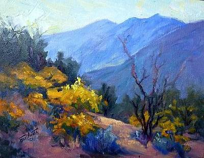 Revising Painting - Spring Blooming by Geri Acosta