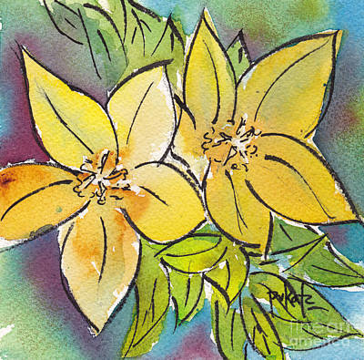 Painting - Spring Blooming Yellow by Pat Katz