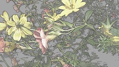 Spring Blossoms In Abstract Art Print by Kim Galluzzo Wozniak