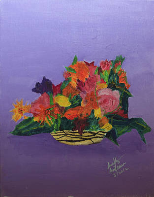 Art Print featuring the painting Spring Bouquet by Swabby Soileau