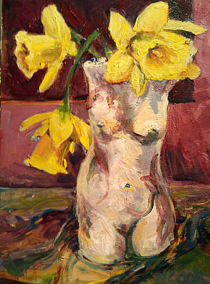 Painting - Spring Daffodils by Nanci Cook