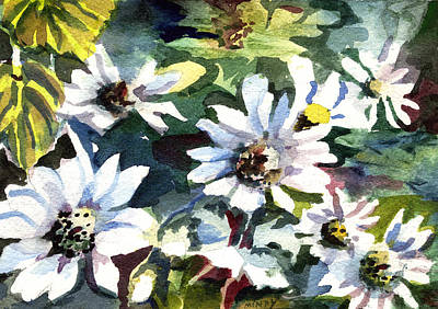 Daisy Drawing - Spring Daisies by Mindy Newman