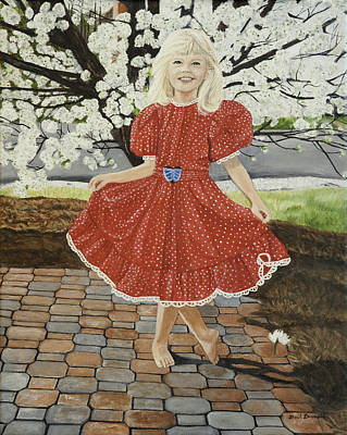 Pear Tree Painting - Spring Dance by Gail Darnell