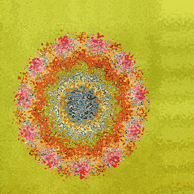Gold Lime Green Digital Art - Spring Dream by Bonnie Bruno