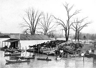 Spring Flood, 1903 Print by Science Source