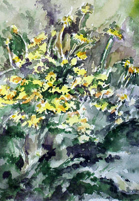 Spring Flowers Original by Sandy Tracey