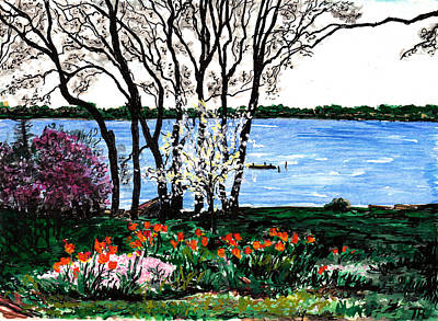 Painting - Spring Flowers by Tom Roderick