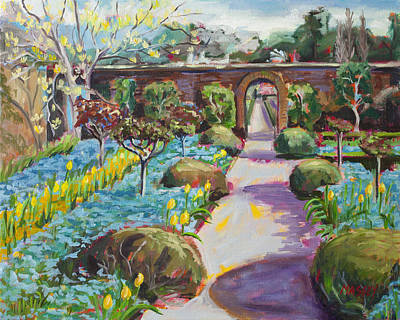 Forget Me Not Painting - Spring Gala  Plein Air by Marie Massey