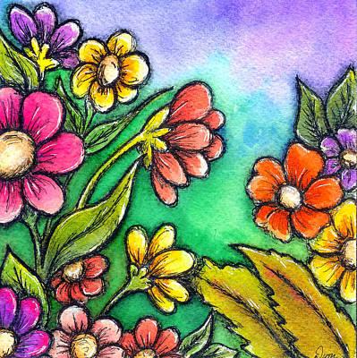 Mixed Media - Spring Garden by Dion Dior
