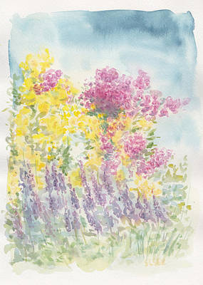 Art Print featuring the painting Spring Garden by Jane  See