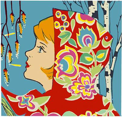 Spring Girl Poster Art Print by Aleksandr Volkov