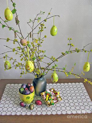 Handmade Book Photograph - Spring Holidays. Easter Composition by Ausra Huntington nee Paulauskaite
