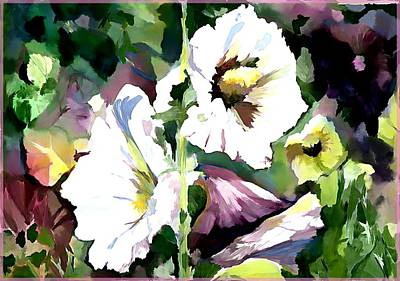 Holly Hocks Painting - Spring Holly by Mindy Newman