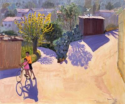 Cycling Painting - Spring In Cyprus by Andrew Macara