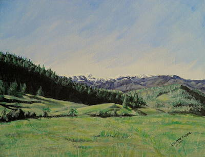 Painting - Spring In The Beartooth Mountains by Sharon Tabor