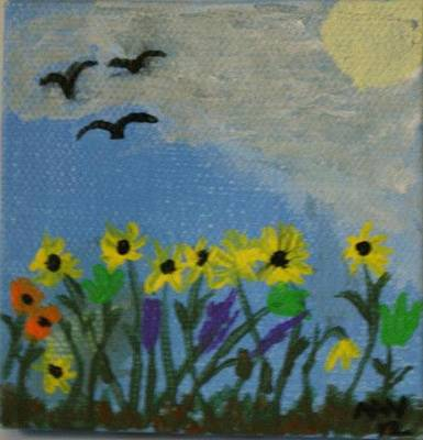 Spring Into Spring Art Print by Maria  Wall