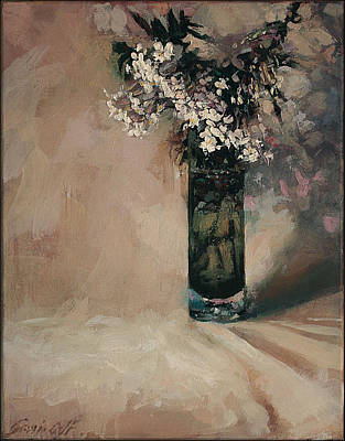 Painting - Spring Jasmine In A Vase by Gavin Calf