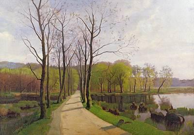 Spring Landscape Painting - Spring Landscape by Hans Brasen