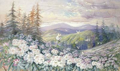 Mountain Valley Painting - Spring Landscape by Marian Ellis Rowan