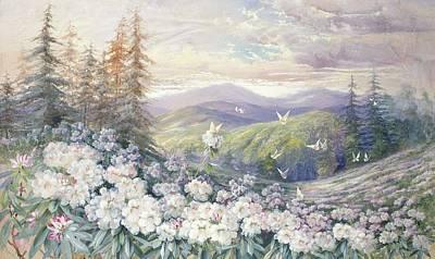 Ferns Painting - Spring Landscape by Marian Ellis Rowan