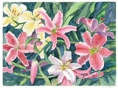 Painting - Spring Lilies by Audrey Peaty