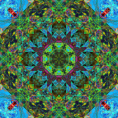 Digital Art - Spring Mandala by Betsy Jones