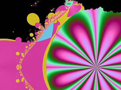 Grapefruit Digital Art - Spring Melon by Teresa Stewart