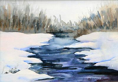 Spring Melt Art Print by Kristine Plum