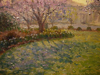 Painting - Spring Morn Market Park by Terry Perham