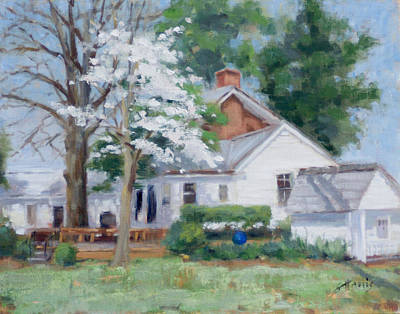 Spring On Windy Hill Art Print by Sandra Harris
