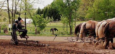Amish Farms Photograph - Spring Planting by Linda Mishler