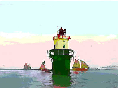 Ledge Mixed Media - Spring Point Light by Charles Shoup