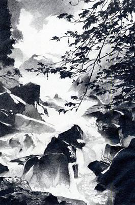 Robert Duvall Drawing - Spring Runoff by Robert Duvall