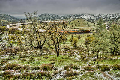 Photograph - Spring Snow Train In Mountains by Connie Cooper-Edwards