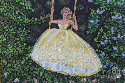 Strapless Dress Painting - Spring Swing by William Ohanlan