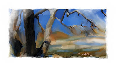 Early Spring Painting - Spring Thaw 2 Variation by Bob Salo