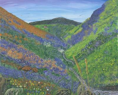 Spring Time In The Mountains Art Print by Lori  Theim-Busch