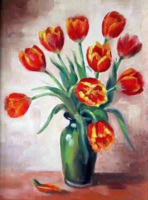 Priska Wettstein Pink Hues - Spring Tulips by Karin  Leonard