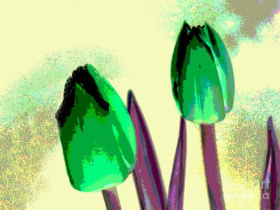 Digital Art - Spring Tulips by Serena Ballard