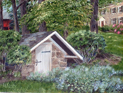 Painting - Springhouse At Garton's by Margie Perry