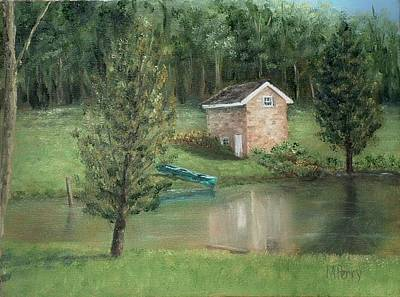 Springhouse Reflection Art Print