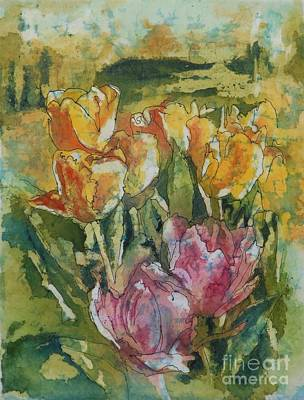Rice-paper Painting - Springtime Gifts by Gretchen Bjornson
